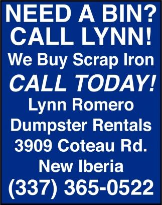 Need a Bin? Call Lynn!