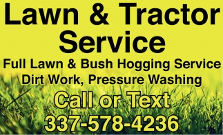 Lawn & Tractor Service